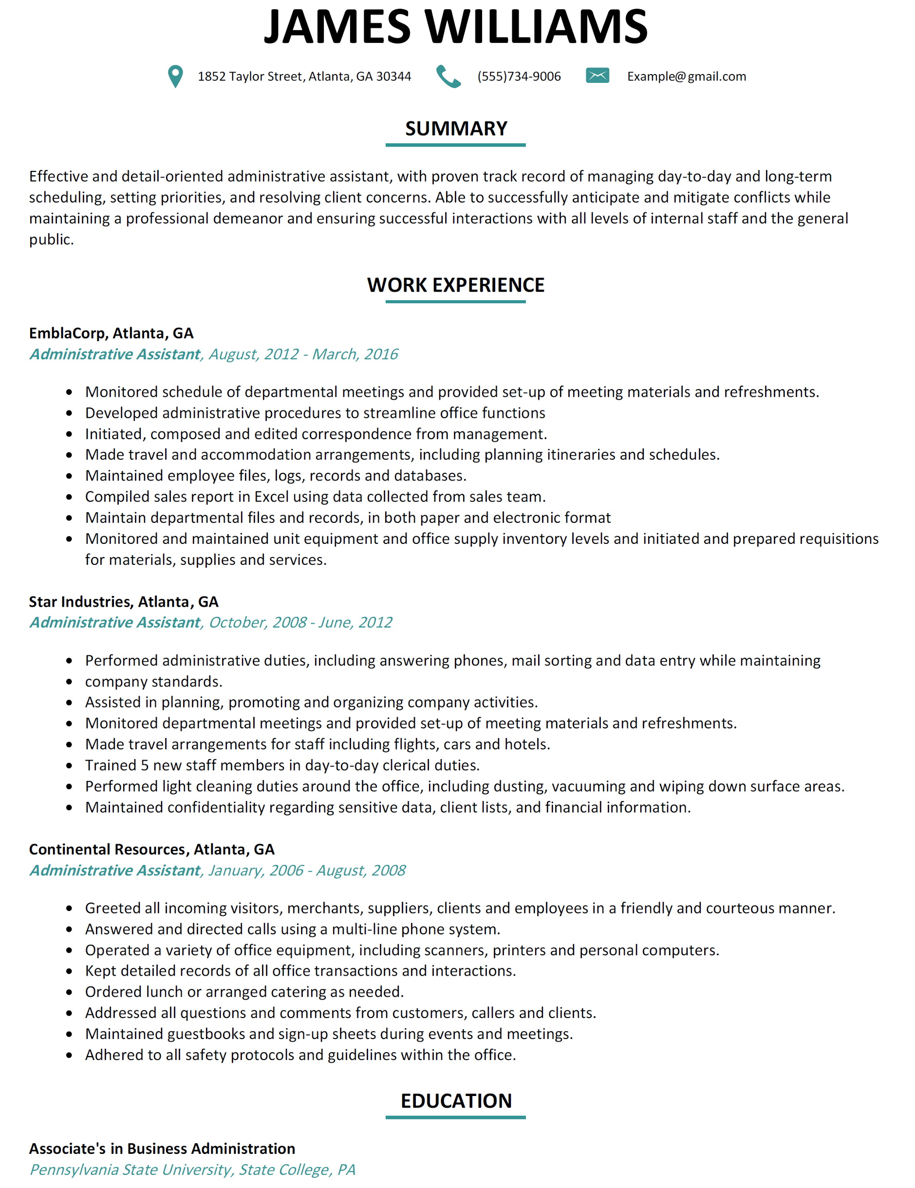 Sample Resume Templates Free Download
