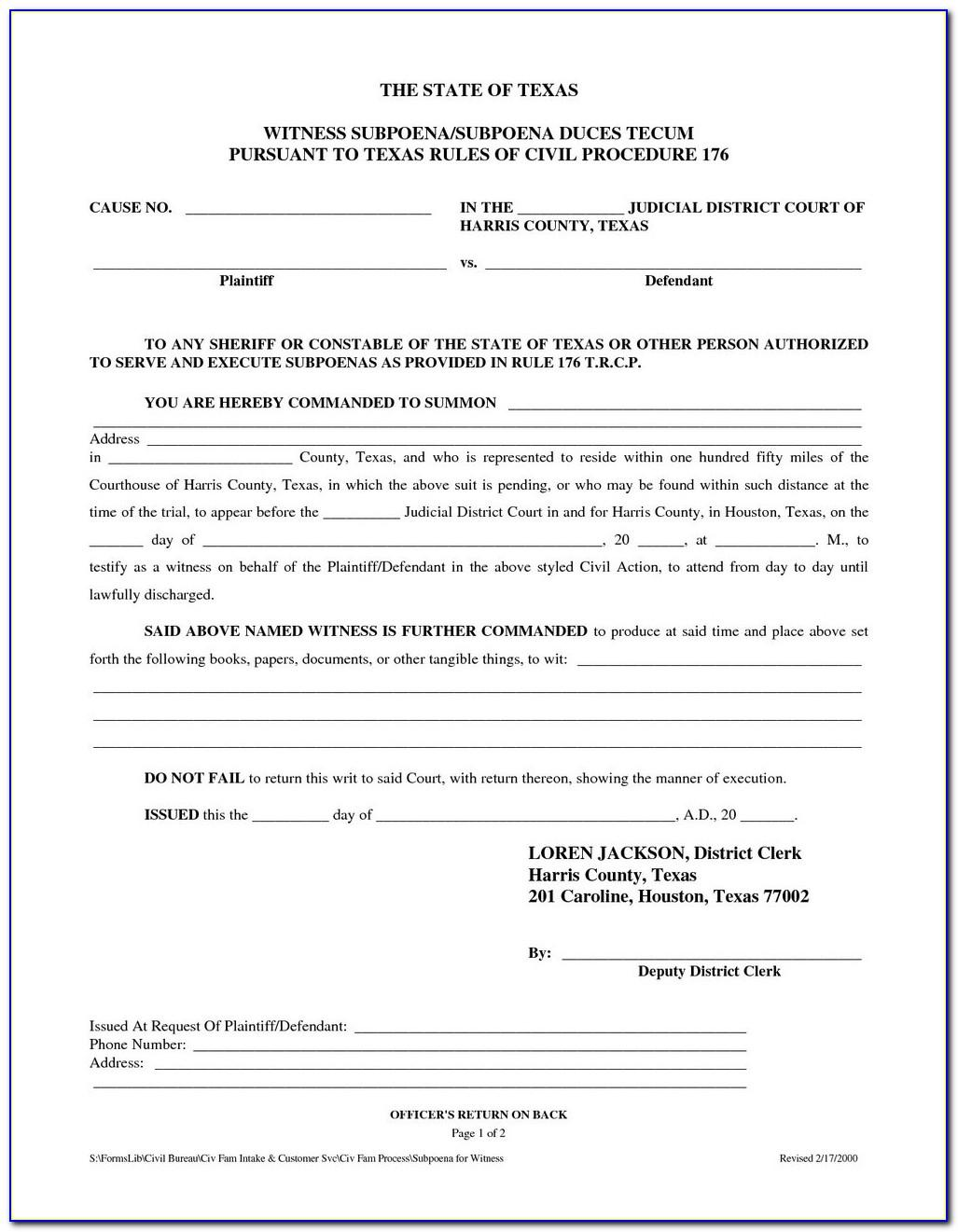 Divorce Forms Texas Free Download