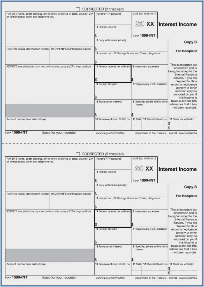 Fillable 1099 Form 2017