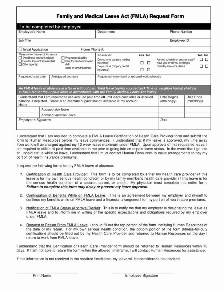 Fmla Printable Forms 2017