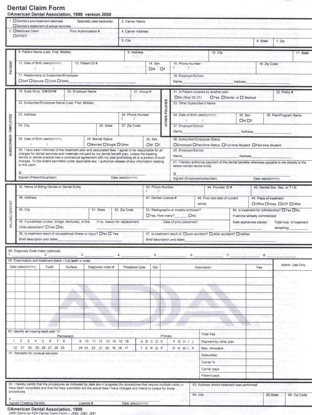 Hcfa 1500 Form Download Free