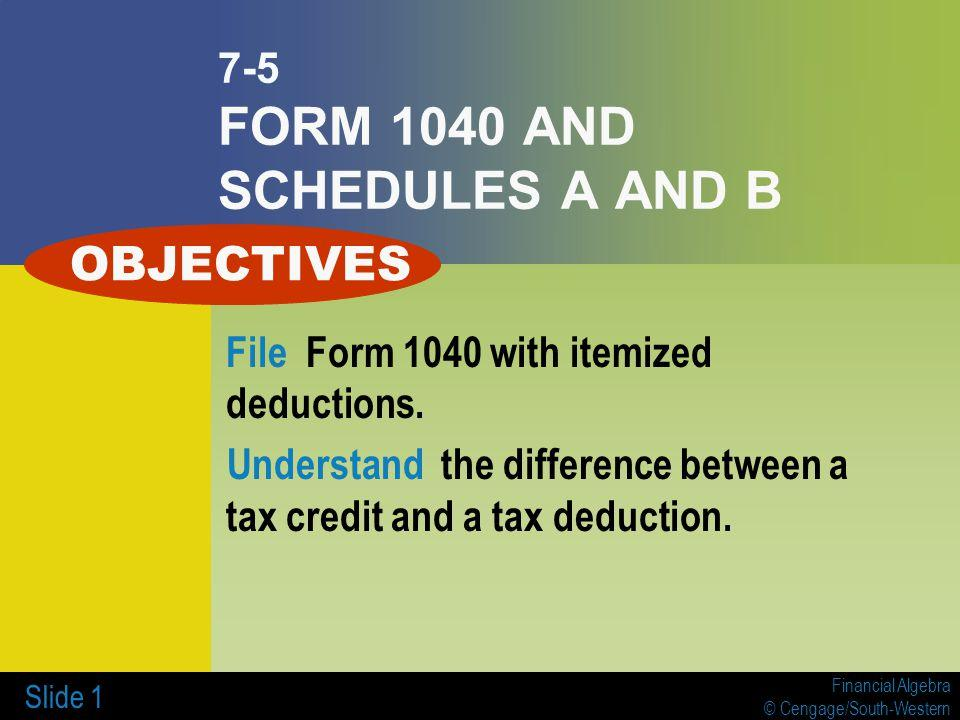 Income Tax Form 1040 Itemized Deductions