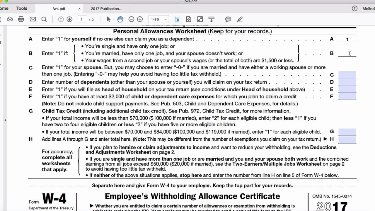 Irs Forms 2018 W 4p Universal Network