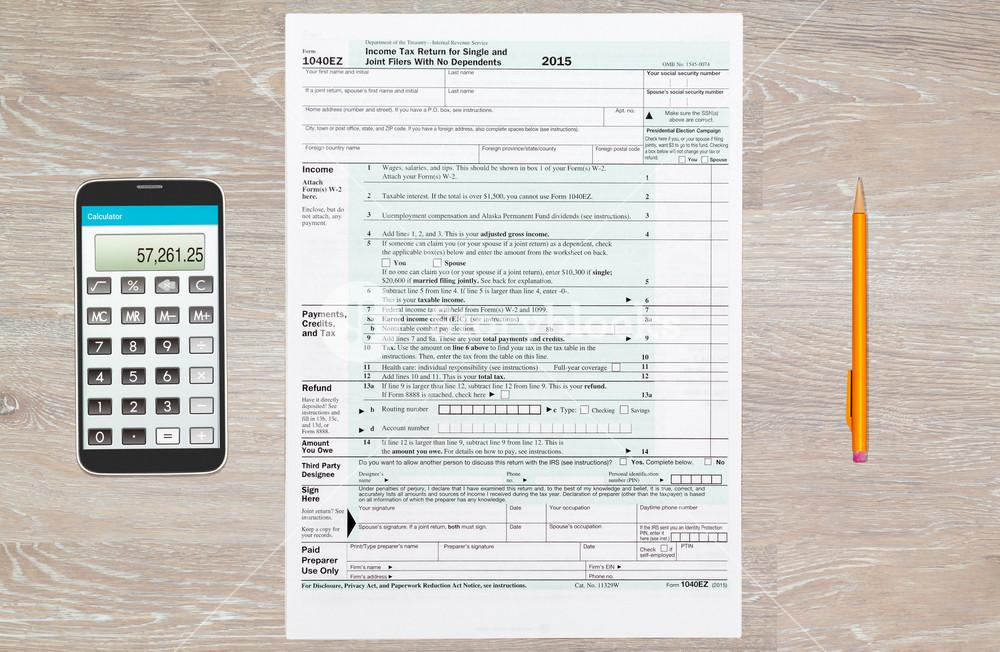 Irs Tax Form 1040ez 2016