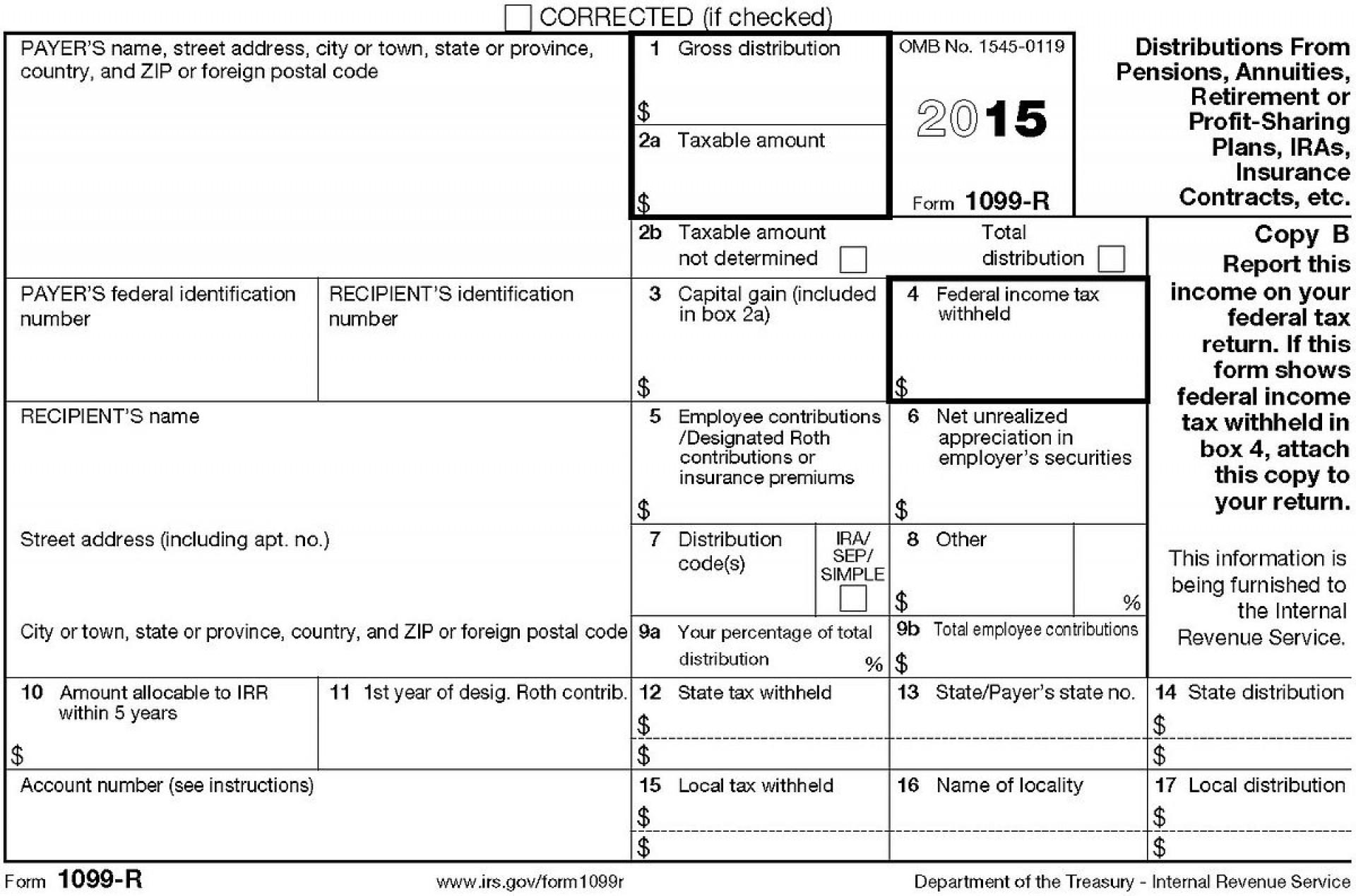 Irs.gov Form 1099 R Instructions