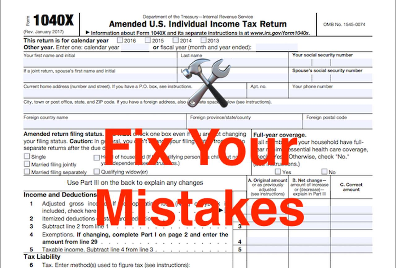 Irs.gov Forms 1040x Instructions