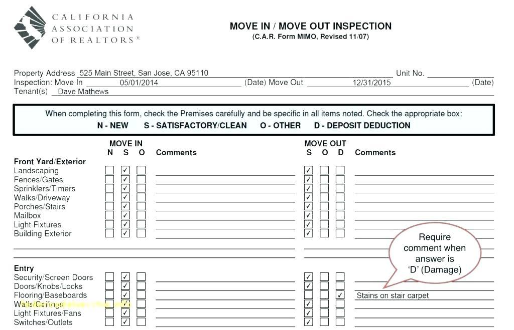 Ladder Inspection Form Template