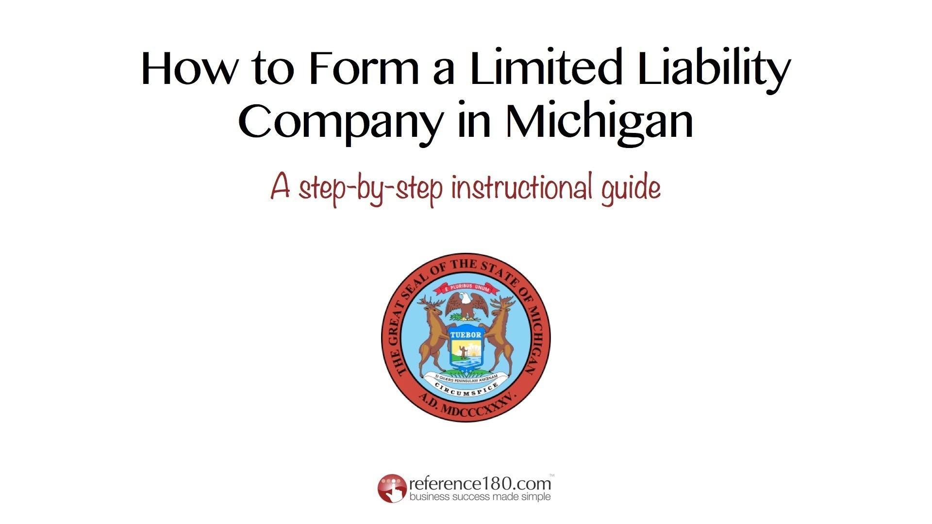 Michigan Llc Formation Forms