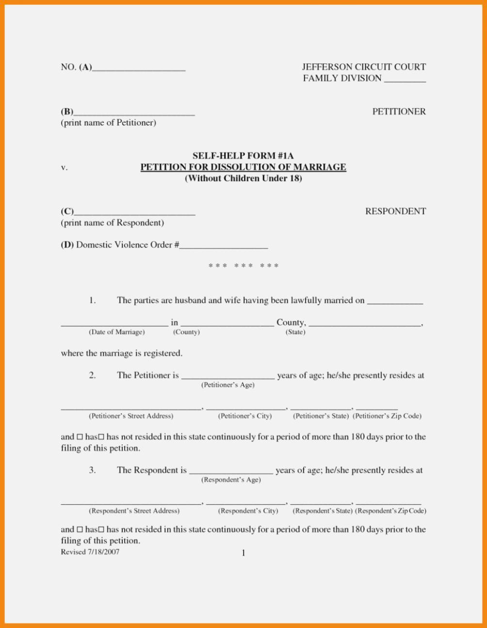 Nc Divorce Forms Pdf