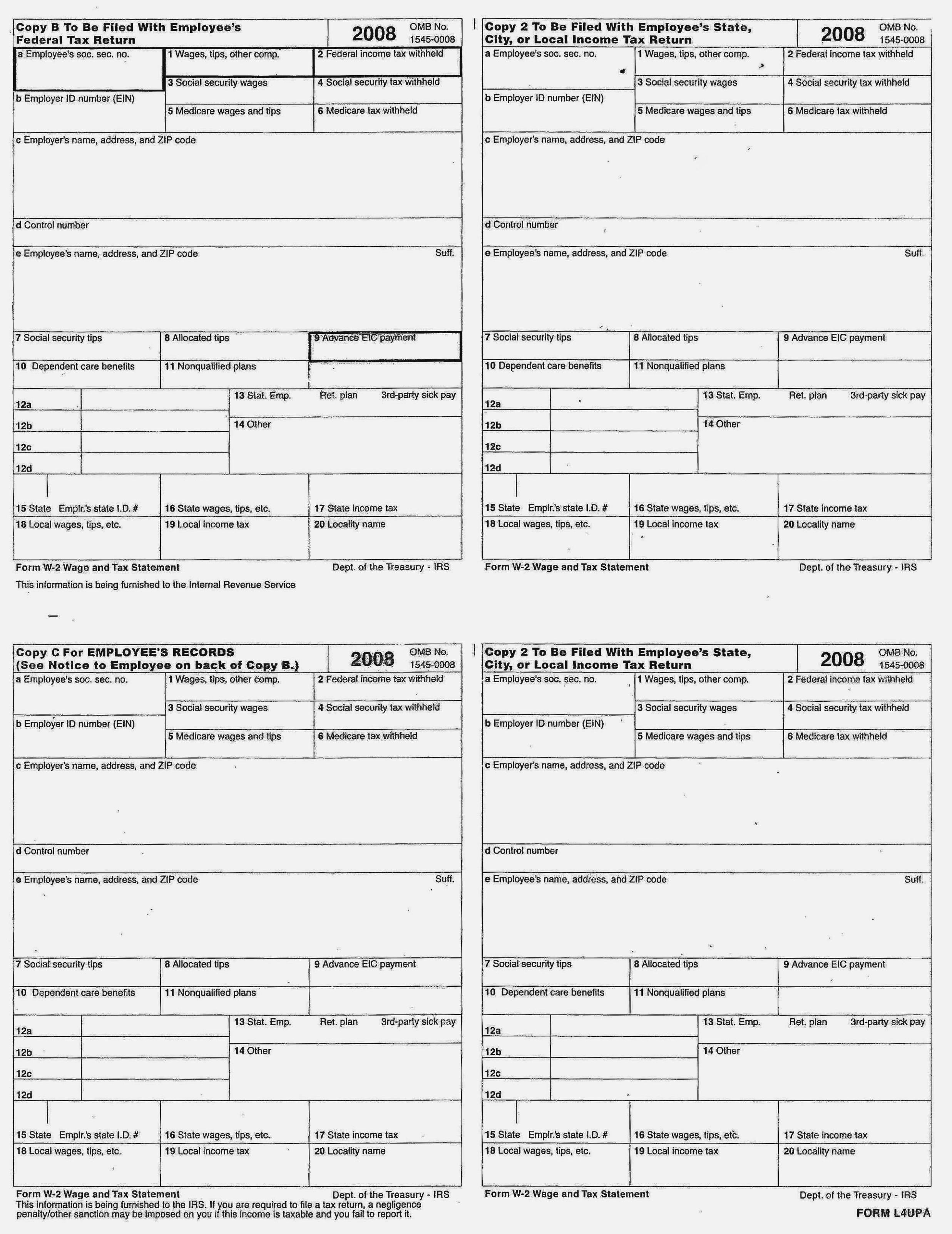 Print W2 Forms For Employees