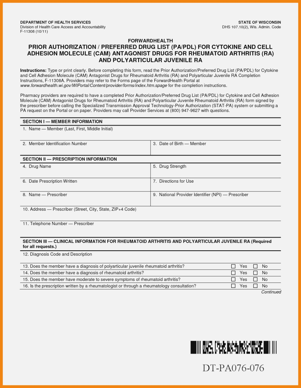 Prior Authorization Form For Aetna Medicare