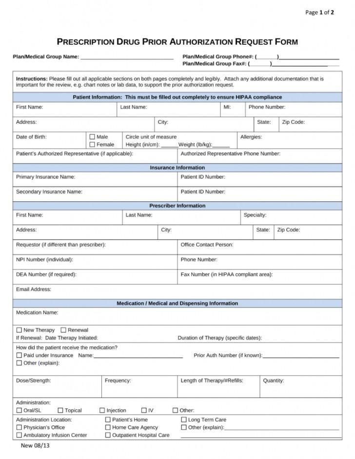 Prior Authorization Form For Cigna Medicare Rx