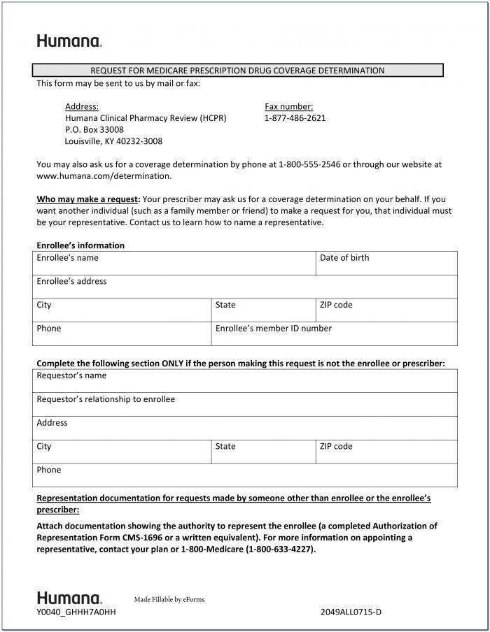 Prolia Prior Authorization Form For Medicare