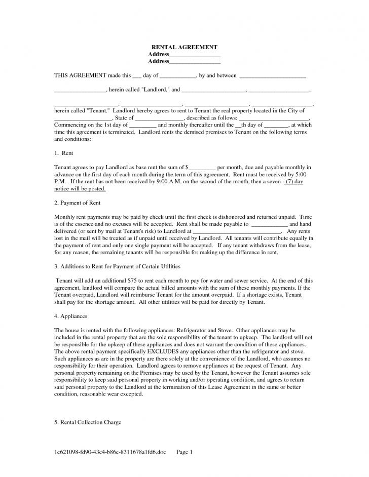 Rental Lease Forms California