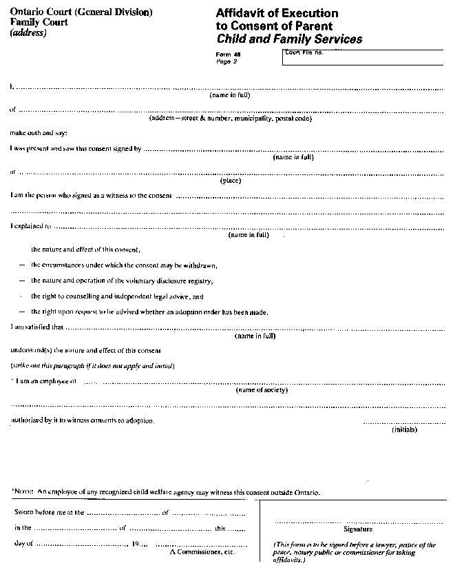 Stepparent Adoption Forms Ontario