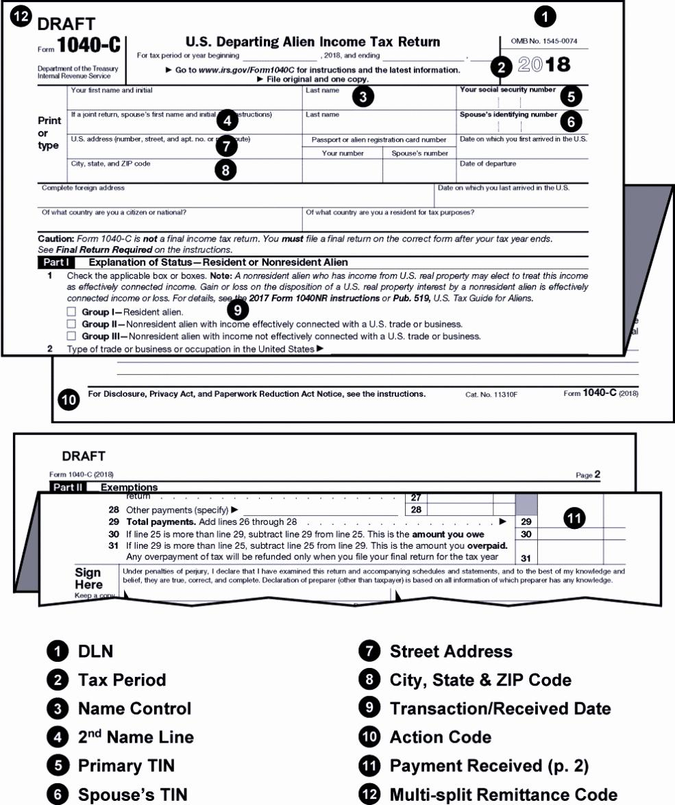 Tax Forms 1040a 2018