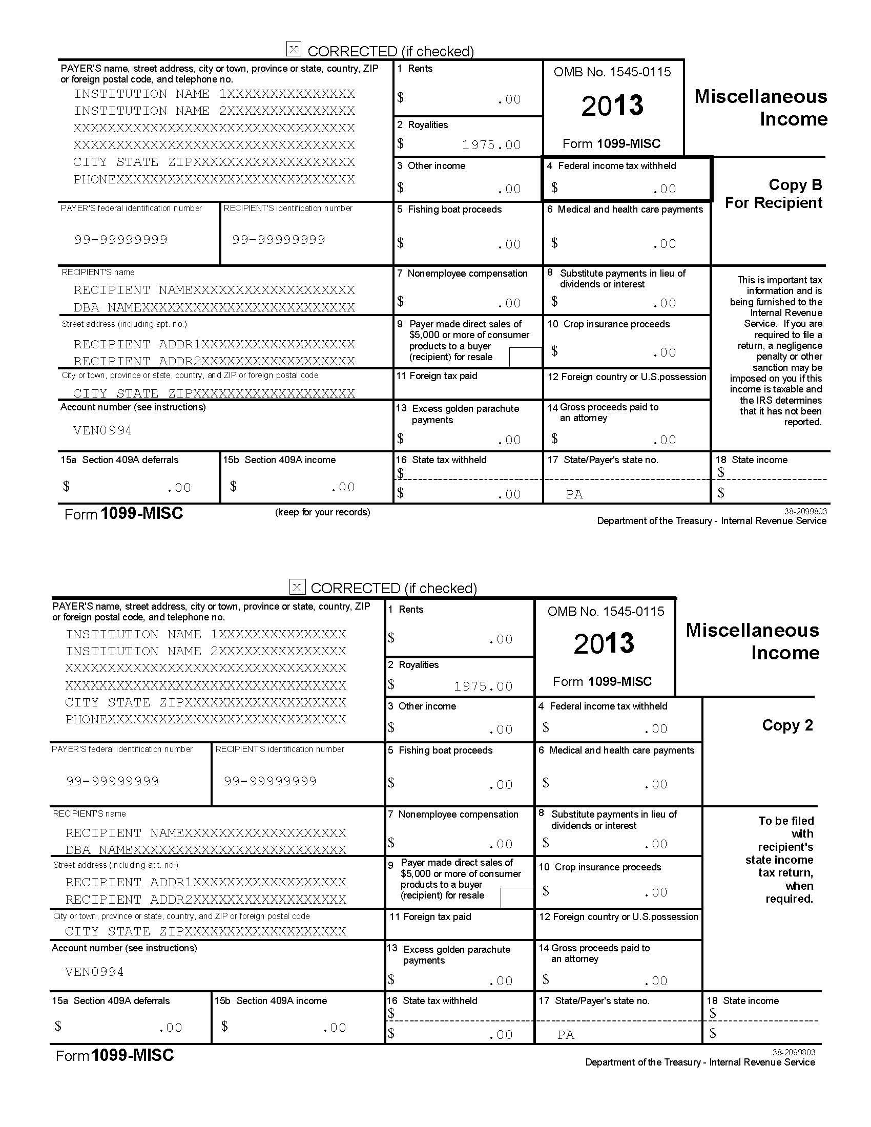 Tax Forms 1099 Ez