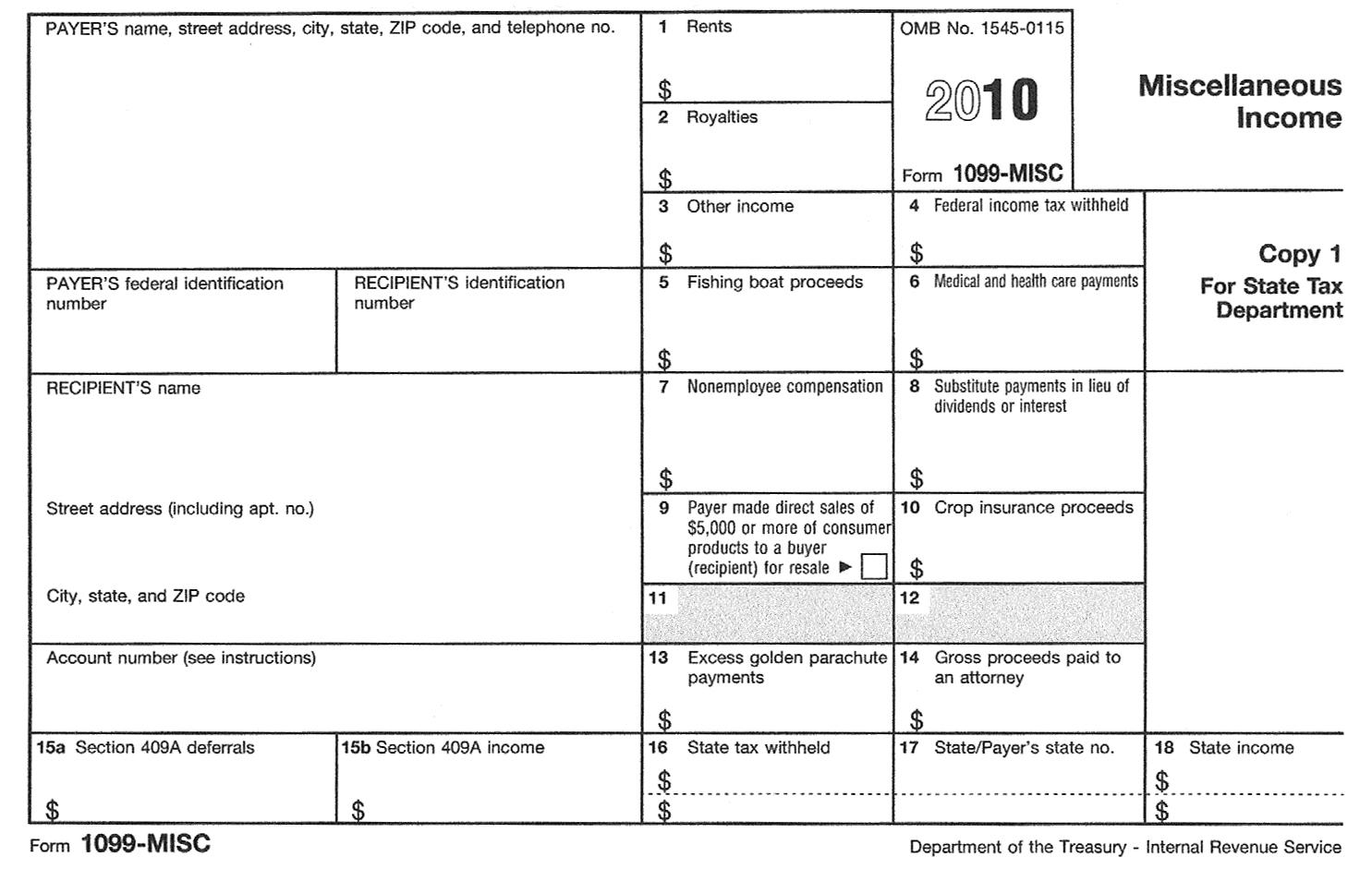 Tax Forms 1099 Int