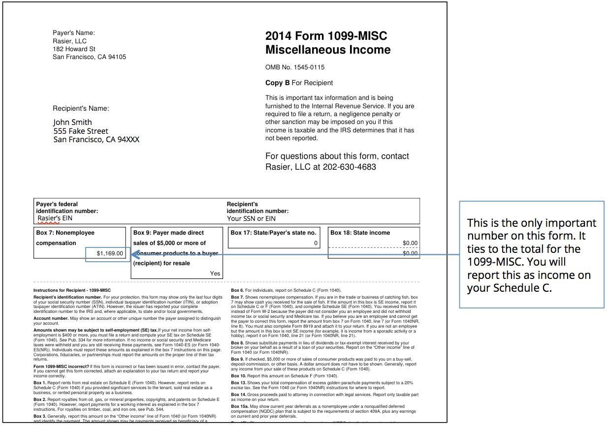Tax Forms 1099 Misc 2017