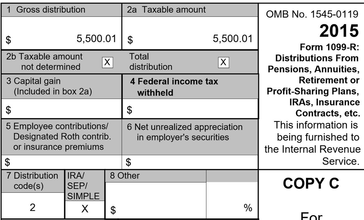 vanguard-tax-form-1099-r  Misc Form Example on for tax year, recipient instructions,