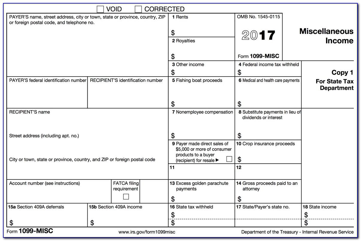 1099 Employee Form Printable 2018