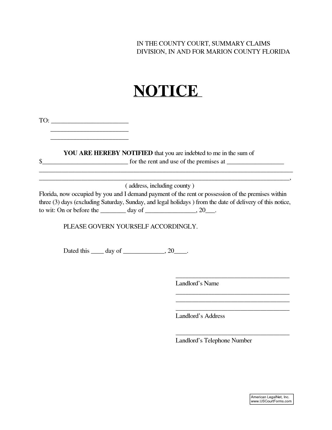 5 Day Eviction Notice Form Louisiana