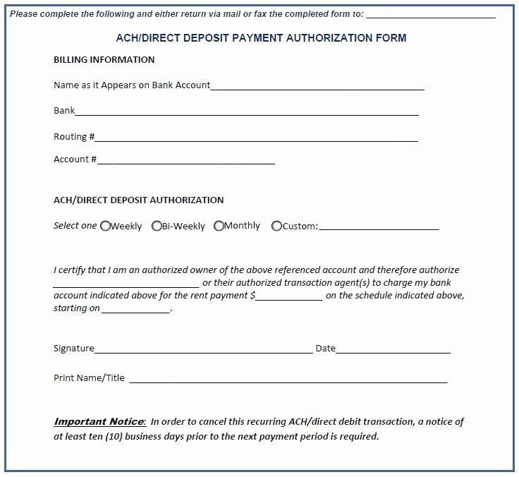 Ach Form Template Lovely 20 Direct Deposit Form Template
