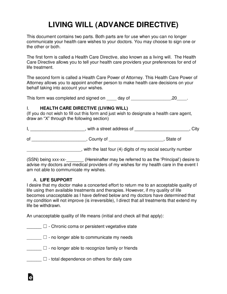 Advance Medical Directive Form Arizona