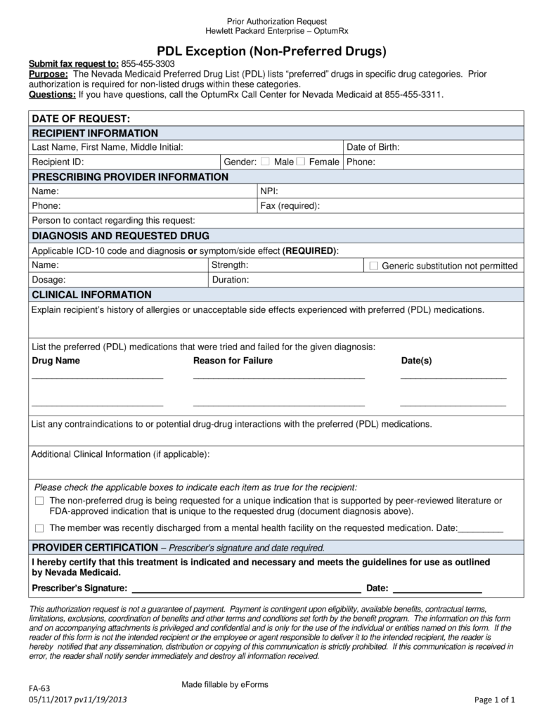 Application Form For Medicaid In Nevada
