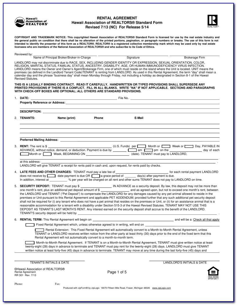 Application To Rent And Rental Deposit California Association Of Realtors Standard Form
