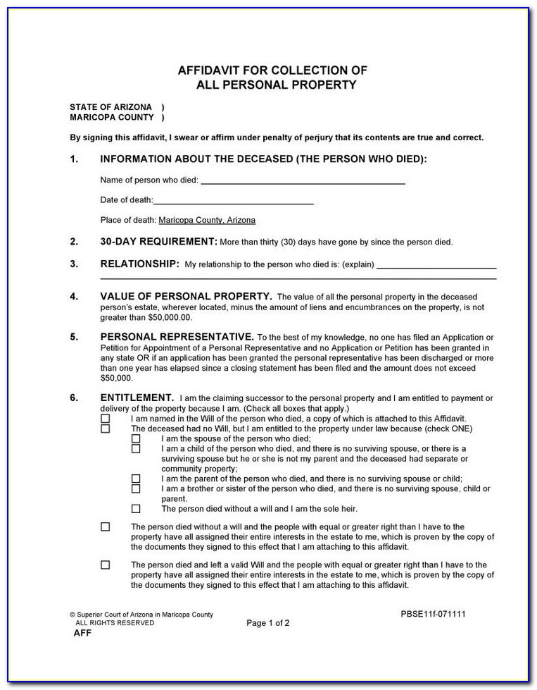 Arizona Divorce Forms Maricopa County