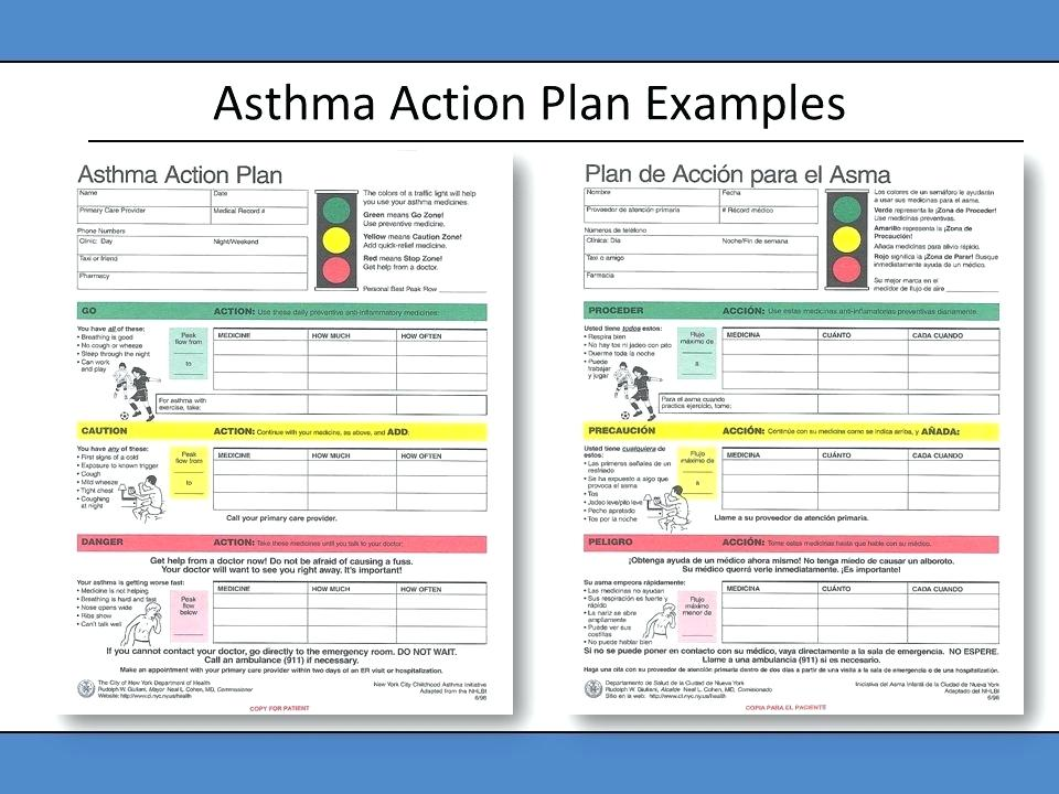Asthma Action Plan Sample Filled Out