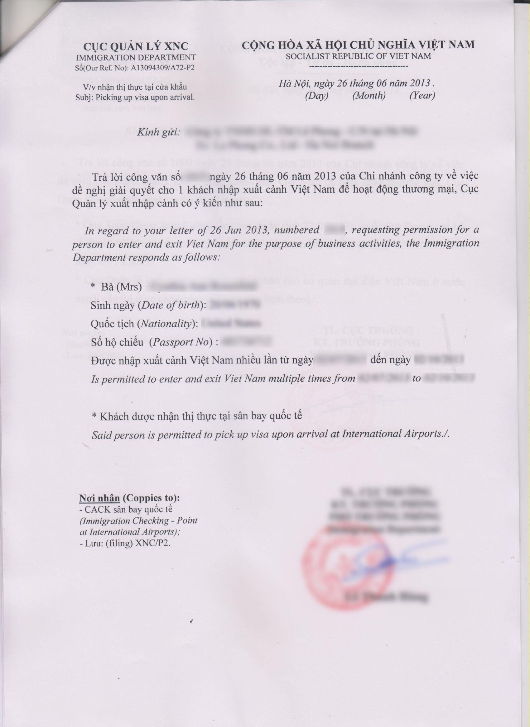 Visa Sample Cover Letter Fresh Download Visa Application Form Vietnam Visa Approval Lettervisa Stock