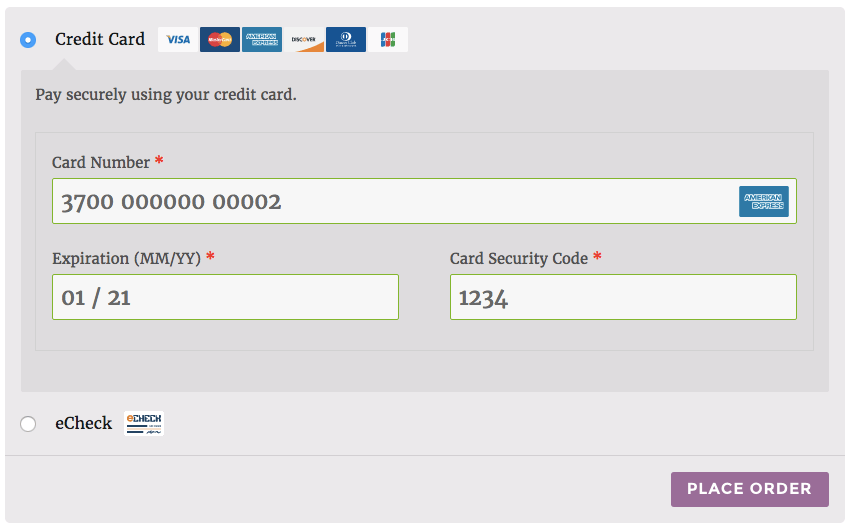 Ach Payment Form Sample | Universal Network
