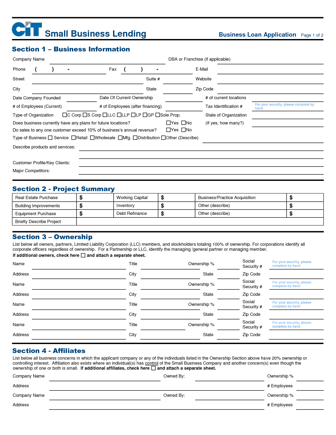 Business Loan Application Celo.yogawithjo.co Intended For Small Business Loan Application Form