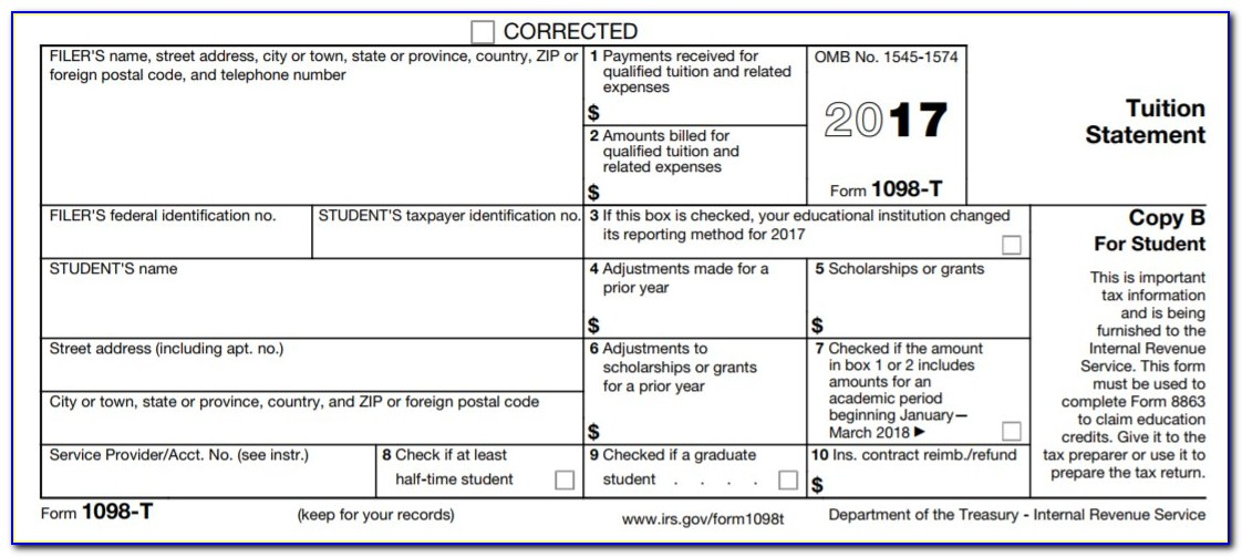 Blank 1098 T Form