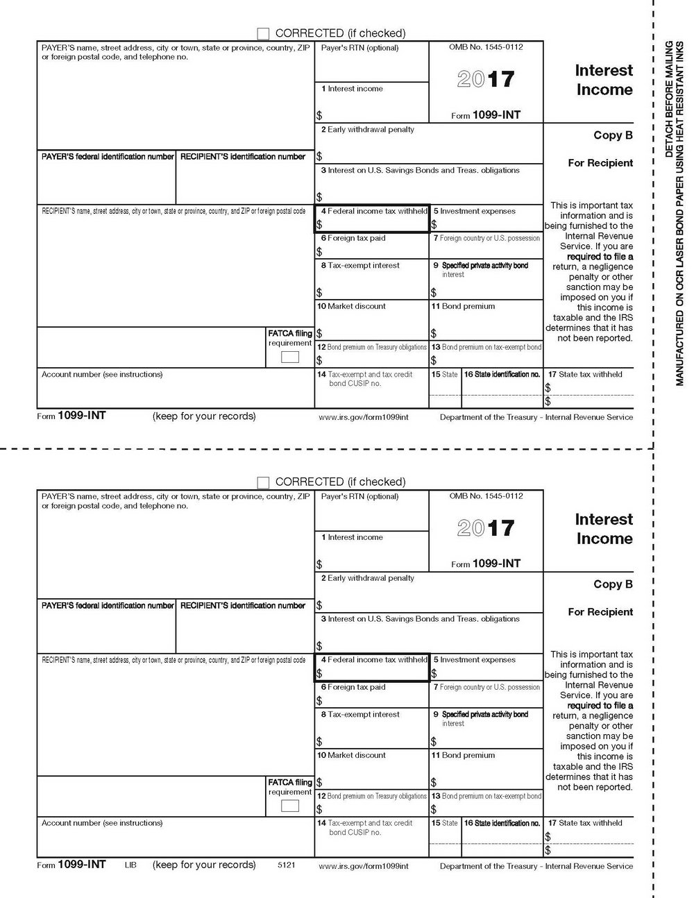 Blank 1099 Misc Form