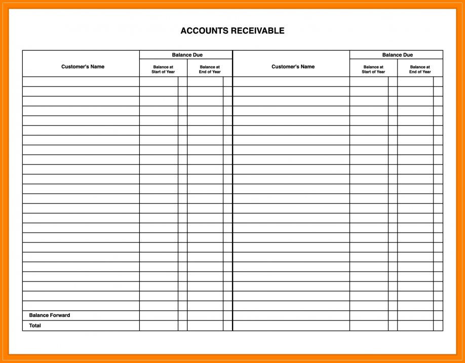 Blank Accounting Ledger Forms