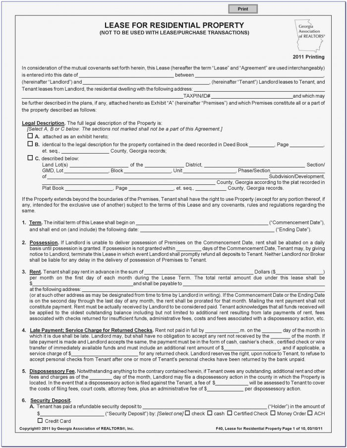 California Association Of Realtors Application To Rent Form