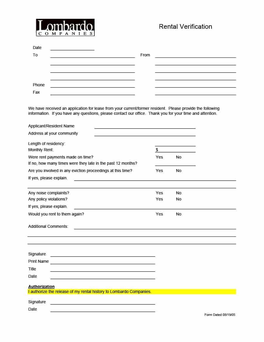 California Tenant Screening Form