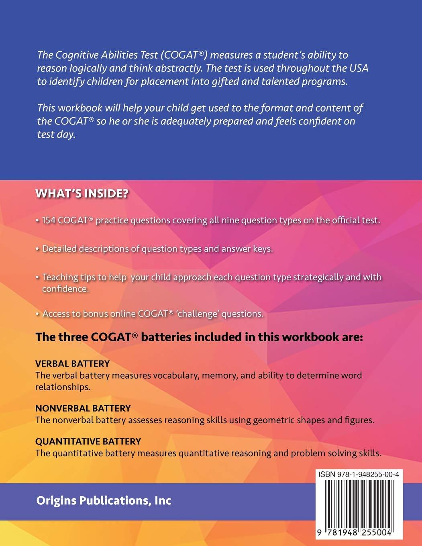 Cogat Form 7 Level 8 Practice Test