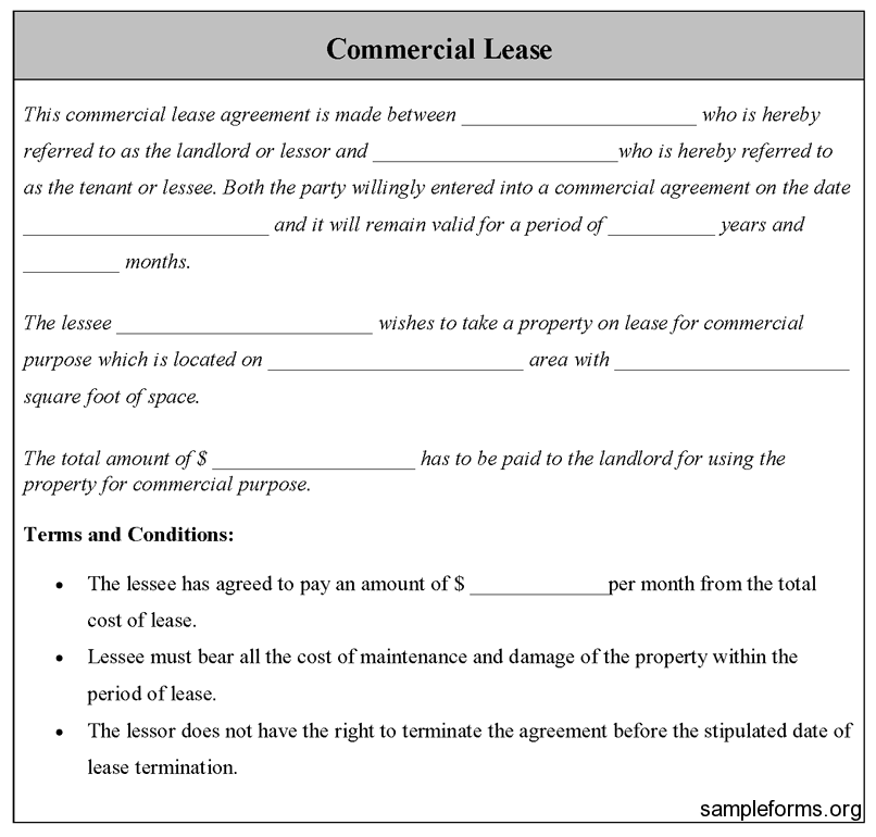 Commercial Lease Sample