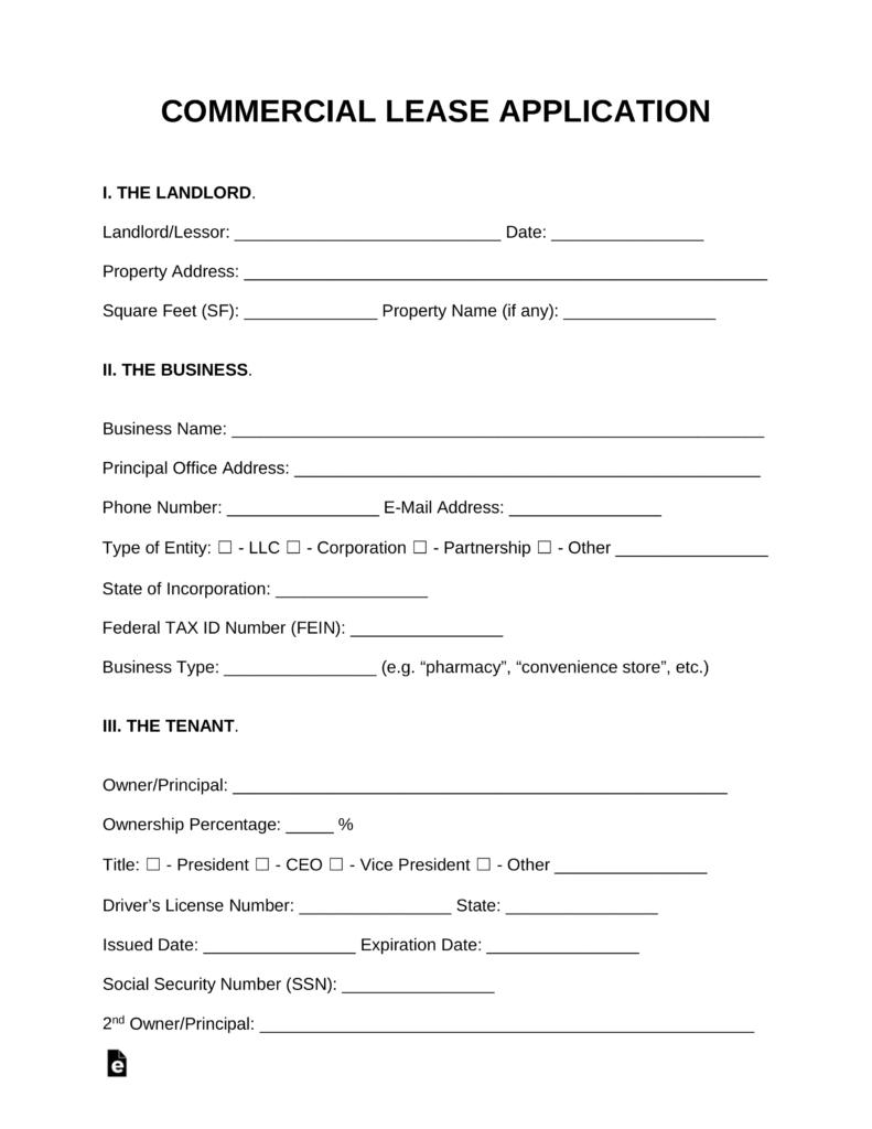 Commercial Tenant Screening Form