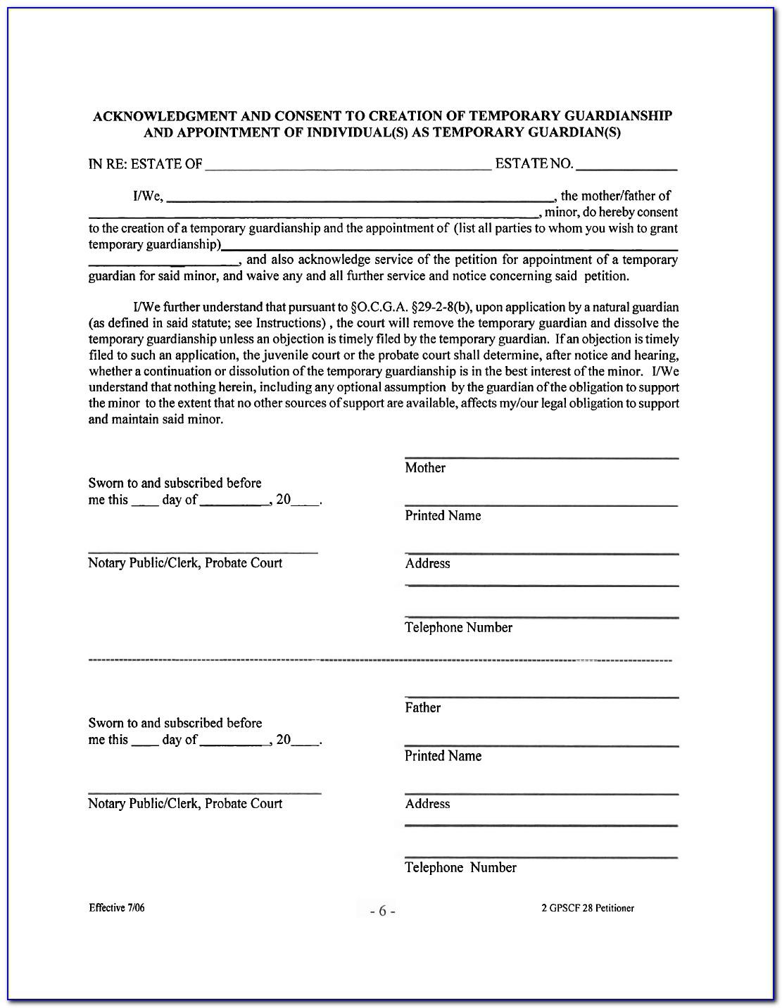 Common Law Affidavit Form Georgia