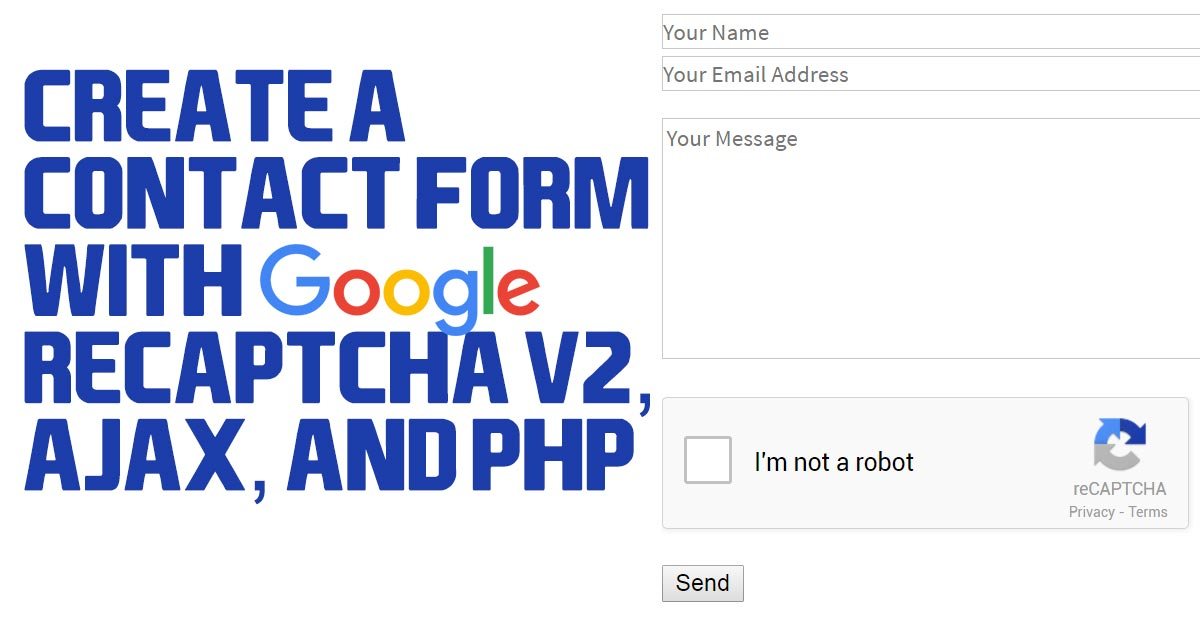 Contact Form With Recaptcha Php