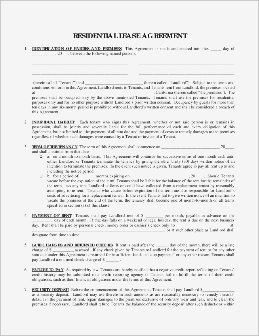 Credit Check Authorization Form For Renters Lovely Rental Lease Agreement Form Samples