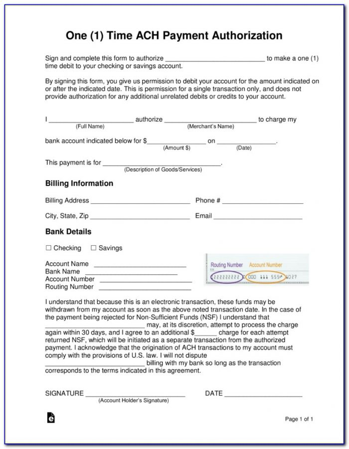 Credit Report Authorization Form With The Rental Application