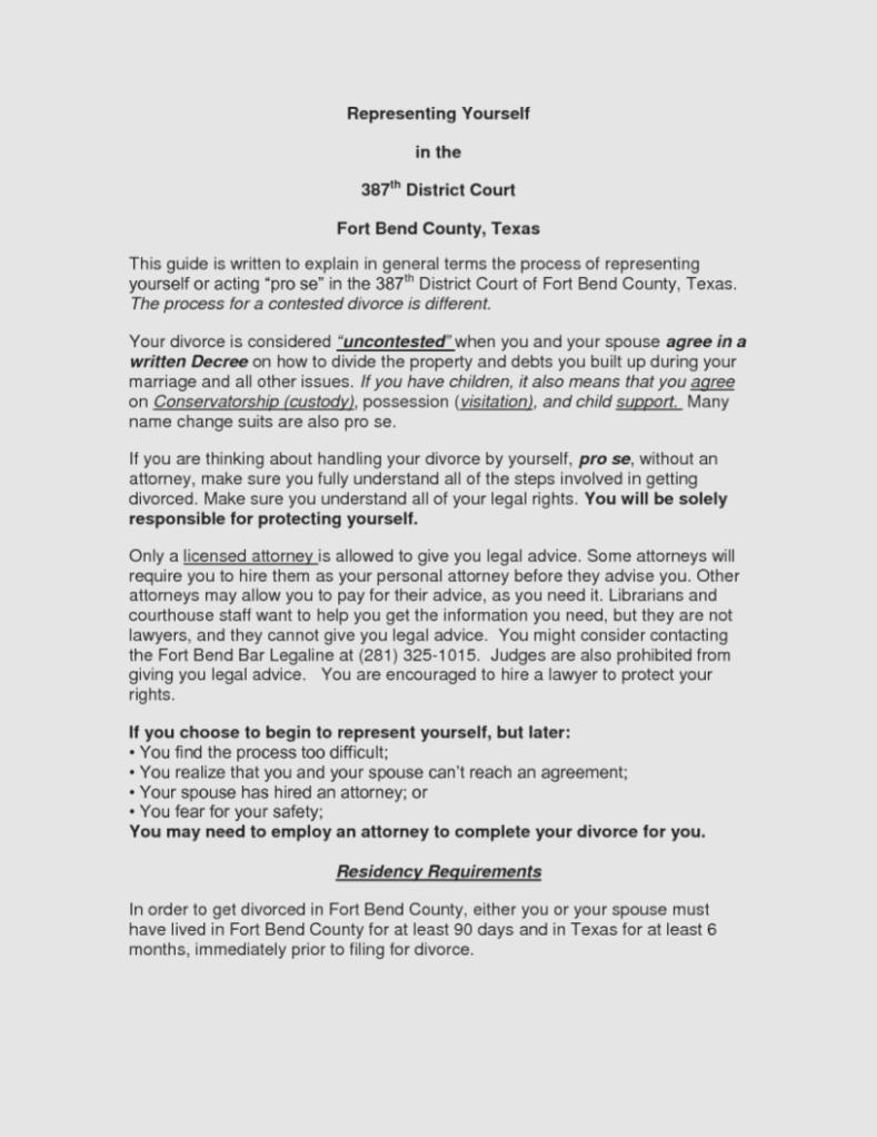 Decree Of Divorce Form