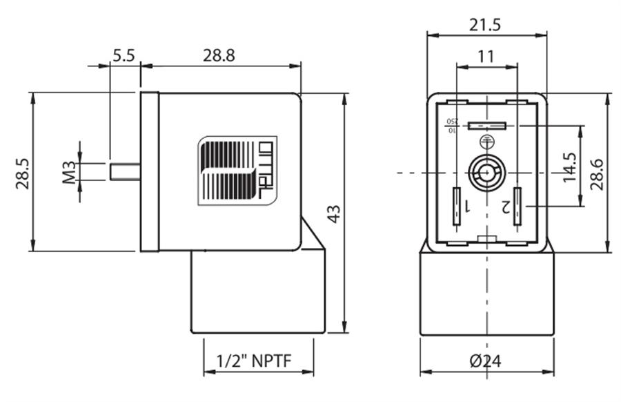 Din 43650 Form B 11mm