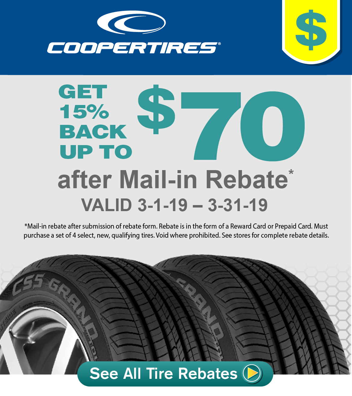 Discount Tire Memorial Day Rebate Form